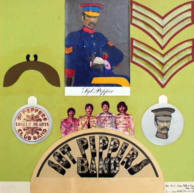 Subastarán collage original del Sgt. Pepper