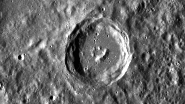 Descubren un cráter en Mercurio con... ¿una carita feliz?