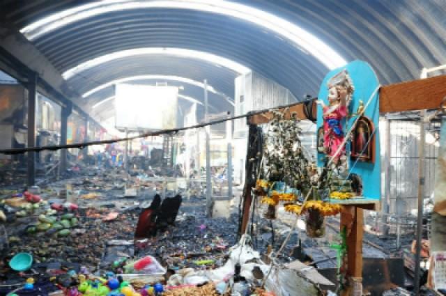 Se incendió el Mercado de Jamaica