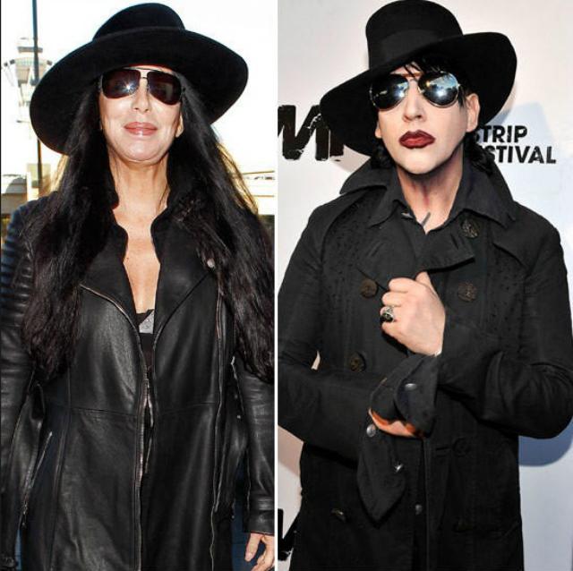 Cher y Marilyn Manson... ¿separados al nacer?