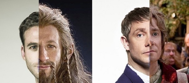 Actores antes y después de