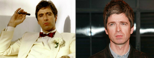 Noel Gallagher y Tony Montana... ¿separados al nacer?