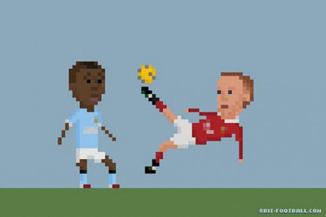 Momentos del futbol... en 8 bits