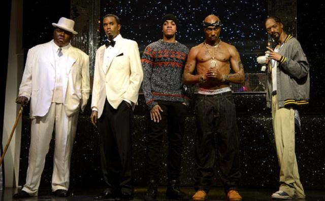Llegan Tupac, Snoop, Diddy y Notorious B.I.G. a museo de cera