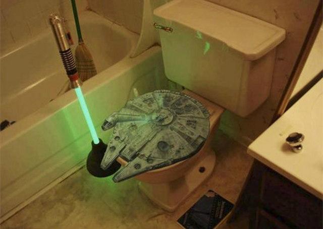 GEEK ALERT!!! Asiento de W.C. y destapacaños de Star Wars