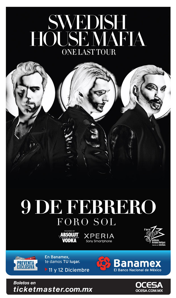 ¡Gana boletos para el concierto de Swedish House Mafia!