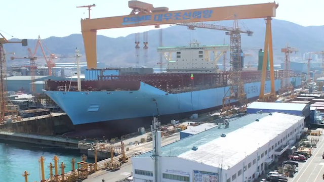 Construyendo el barco más grande del mundo en tan sólo 76 segundos