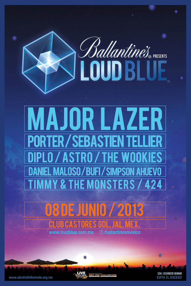 Major Lazer encabeza el cartel del Ballantine's Loud Blue