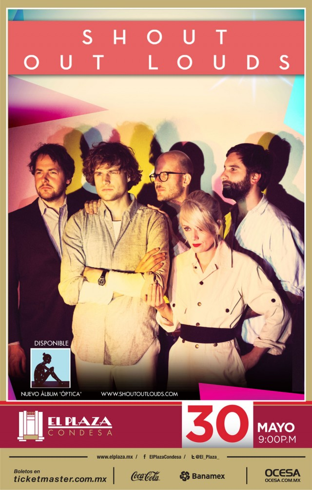 ¡Gana boletos para el concierto de Shout Out Louds!