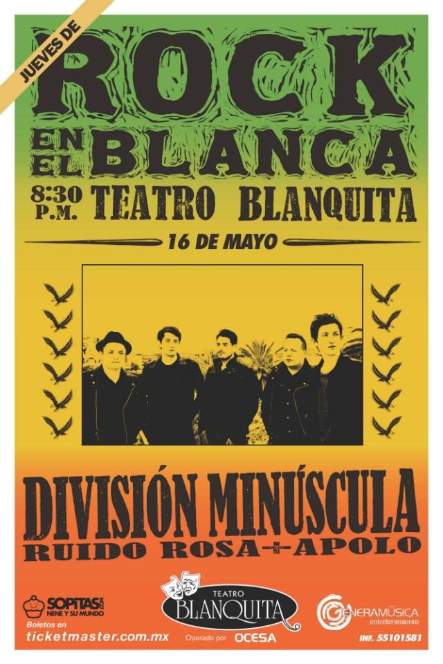 ¡Gana boletos, meet & greet y soundcheck para División Minúscula en el Blanquita!