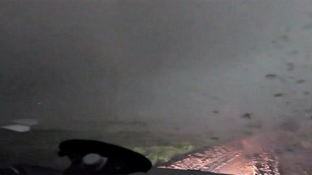 Y así es como se siente estar al interior de un tornado