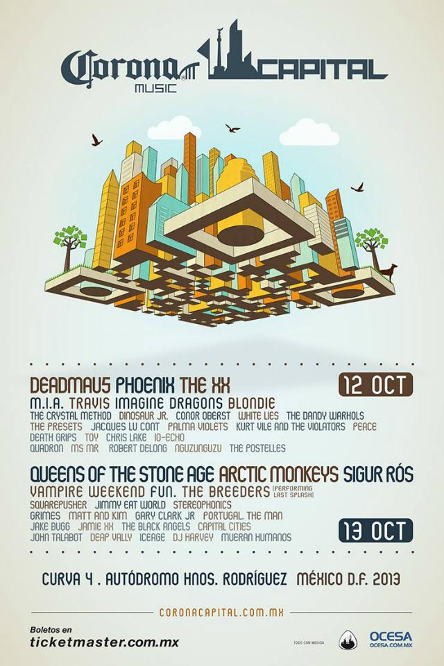 Cartel Oficial del Festival Corona Capital 2013