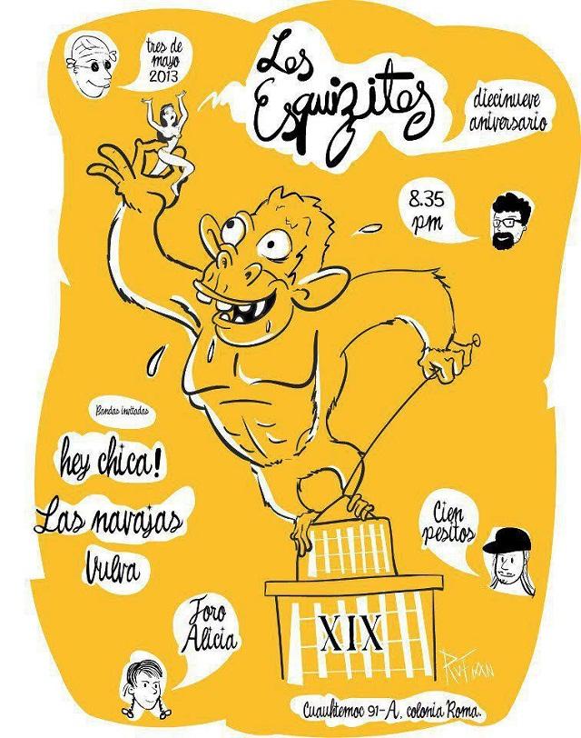 Hey Chica! se presenta hoy en el Alicia en el XIX aniversario de Los Esquizitos