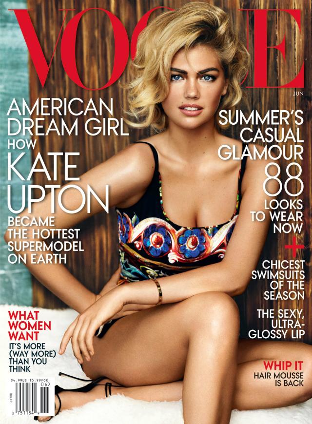 Kate Upton posa elegante para la revista Vogue