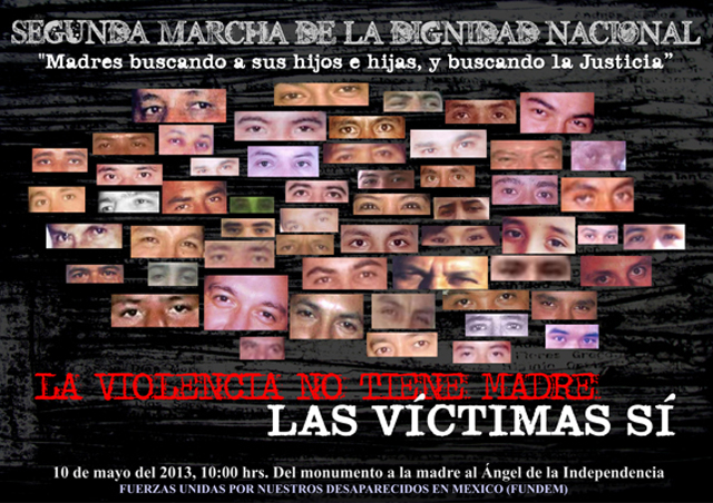 Segunda marcha de la dignidad nacional «Madres buscando a sus hijos e hijas y buscando justicia»