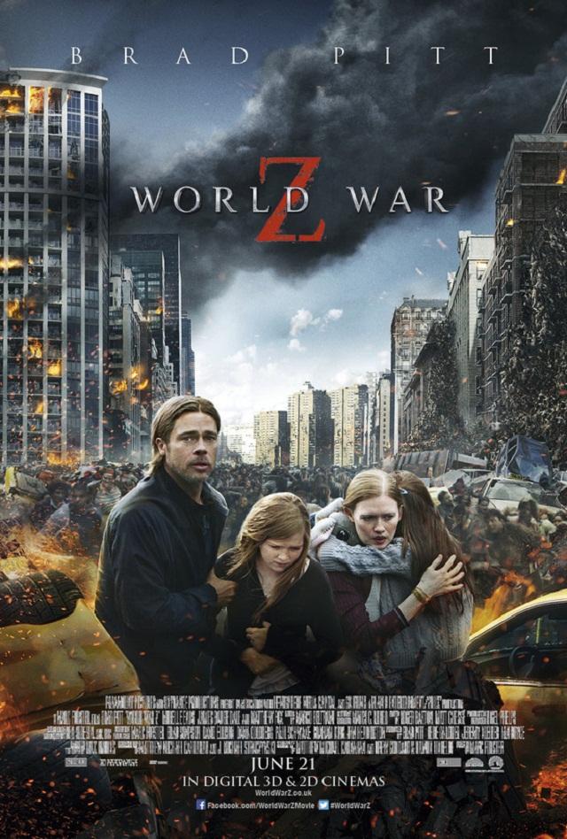 Brad Pitt escapa de los zombies en el nuevo póster de World War Z