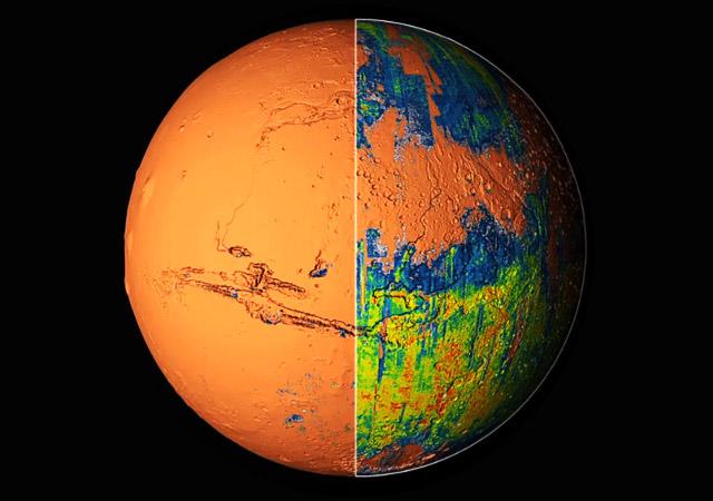 Presentan el primer atlas global de Marte