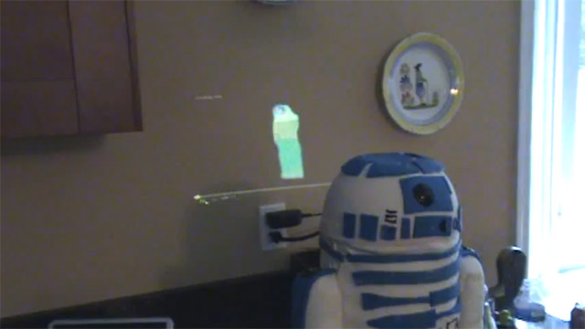 Nerdgasmo: Un pastel de R2-D2 con todo y holograma