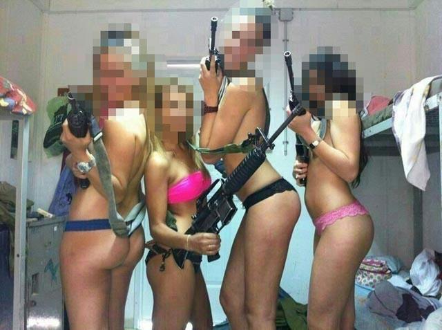 Mujeres soldado del ejército israelí, posaron semidesnudas y subieron las fotos a Facebook