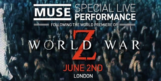 Muse ofreció un gran concierto después de la premiere de World War Z en Londres