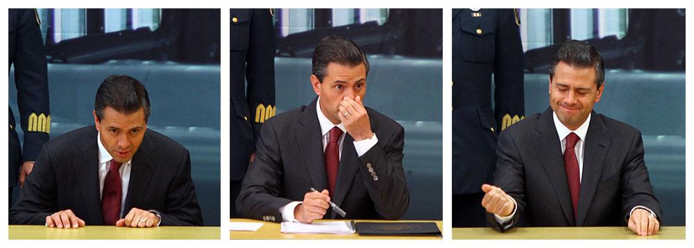 Y en la imagen del día... así celebra Peña Nieto inversiones en México