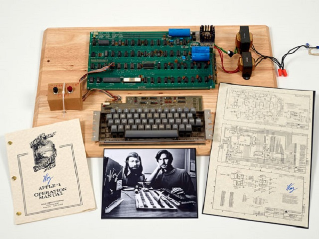 Primera computadora de Apple fue vendida en US$ 387,750