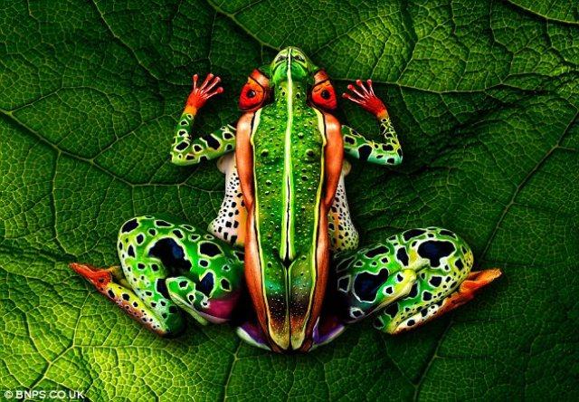 Johannes Stoetter, el artista que transforma a la gente en paisajes, animales y frutas