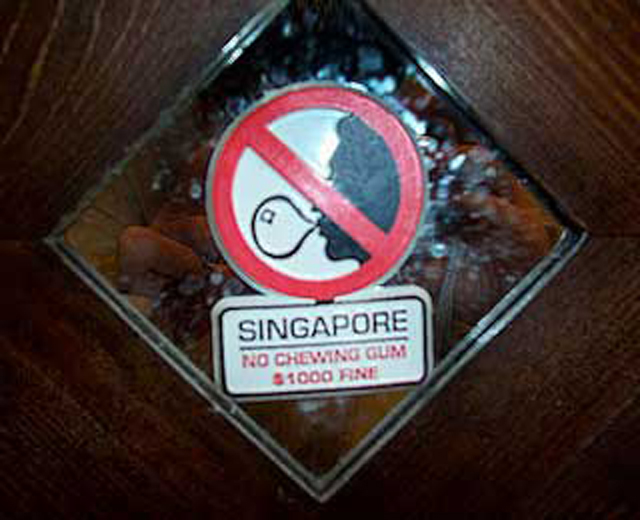 prohibicion chicle en singapur - Sopitas.com