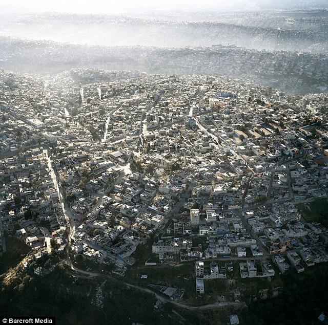 Increíbles fotos aéreas de la sobrepoblación en la Ciudad de México