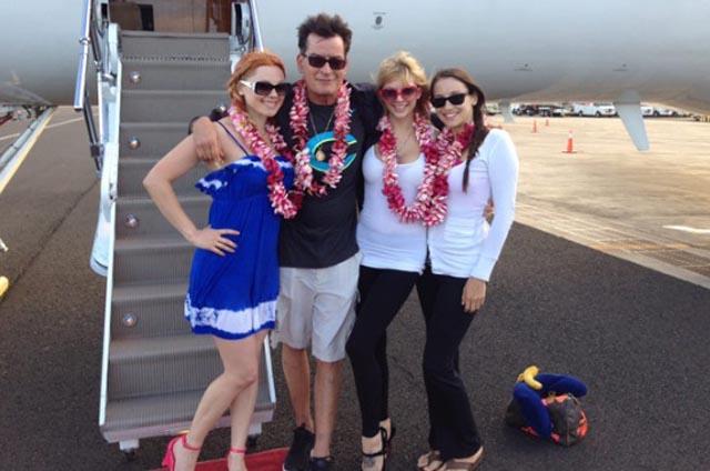 Y en la imagen del día... las vacaciones de Charlie Sheen