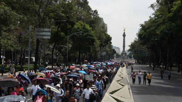Así estuvo la marcha de los maestros de la CNTE (Fotos+entrevistas)