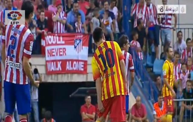 Video: El gesto antifairplay de Diego Godín a Messi