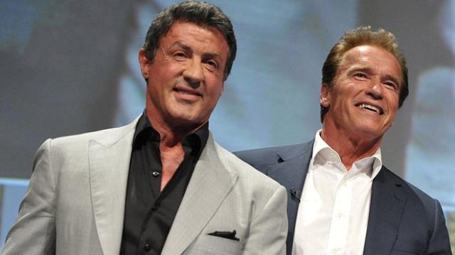 Schwarzenegger y Stallone juntos en la nueva imagen del rodaje de The Expendables 3