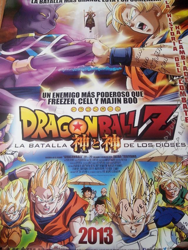 Te regalamos un póster autografiado de Dragon Ball Z: La batalla de los dioses