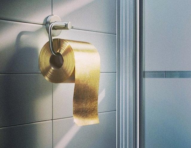 Papel higienico de oro, ¿tu trasero lo vale?