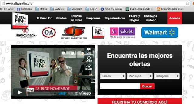 Página oficial del Buen Fin es propiedad de Televisa