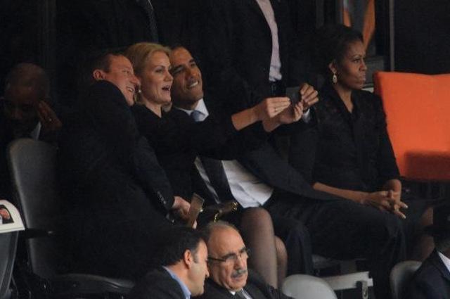 La selfie de Obama en el funeral de Nelson Mandela.... pa'l feis