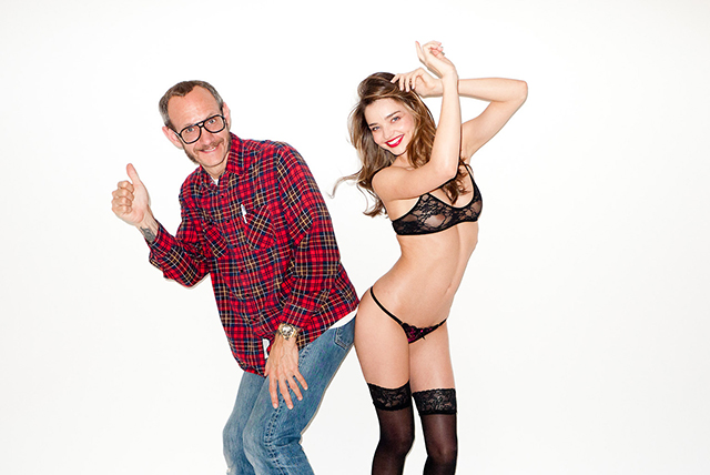 Miranda Kerr posa con reveladora lencería para Terry Richardson