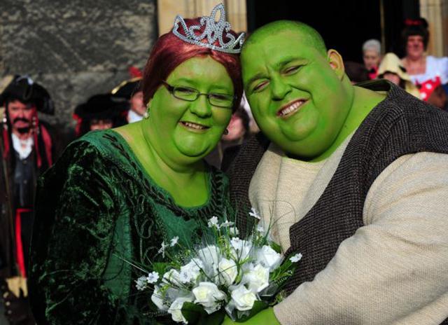 Y así estuvo la boda de Shrek en la vida real