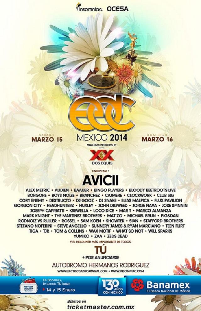 AVICII, Baauer, Boys Noize y más en el EDC México