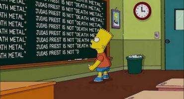 Los Simpson corrigen su error al decir que Judas Priest es Death Metal