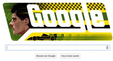 Google dedicó su doodle a Ayrton Senna