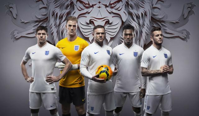 Oficial: Así son los uniformes de Inglaterra para el Mundial 2014