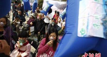 Se regalan bolsitas de aire de la montaña (adivinaron, en China)