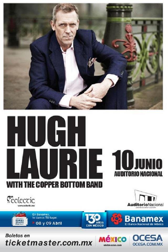 ¡Gana boletos para el concierto de Hugh Laurie!