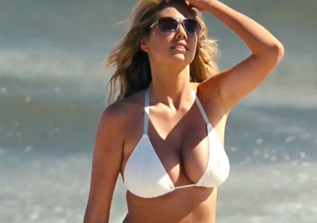 ¡Los senos de Kate Upton y el mejor trabajo del mundo! (incluye gifs)