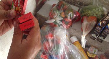 Denuncian venta de despensas de Sedesol... con productos caducos