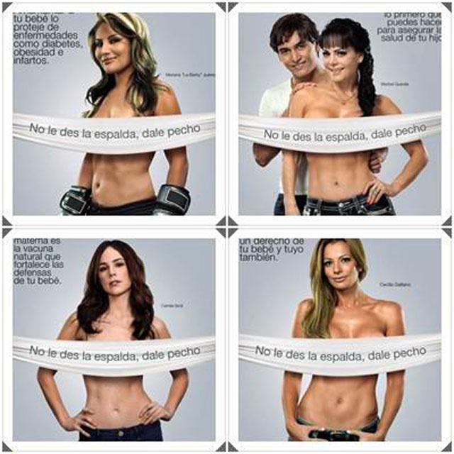 El topless de Maribel Gua... Ah no, la campaña por la lactancia en el DF :)