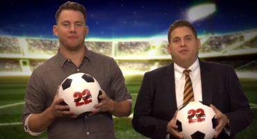 Channing Tatum y Jonah Hill te dan consejos para jugar futbol