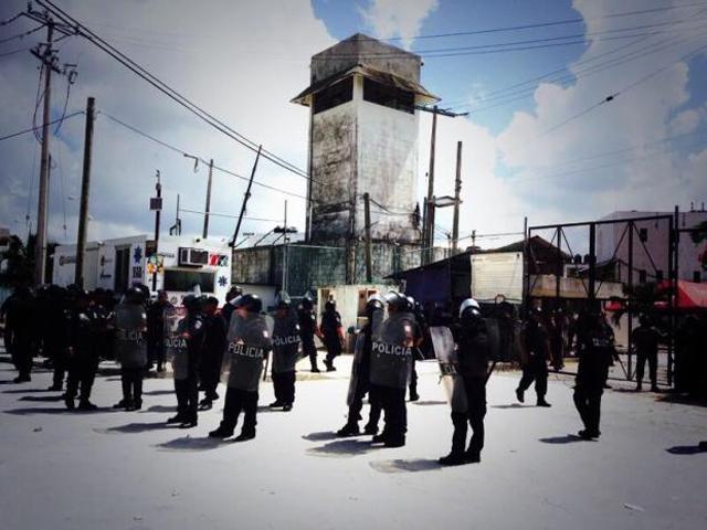 #Epicfail: Reos aprovechan el Mundial para amotinarse en una cárcel de Cancún